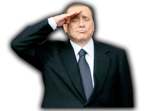 Image result for berlusconi saluting